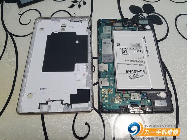 SAMSUNG 三星 TabS T700 手机平板更换电池屏幕教程,拆机图文教